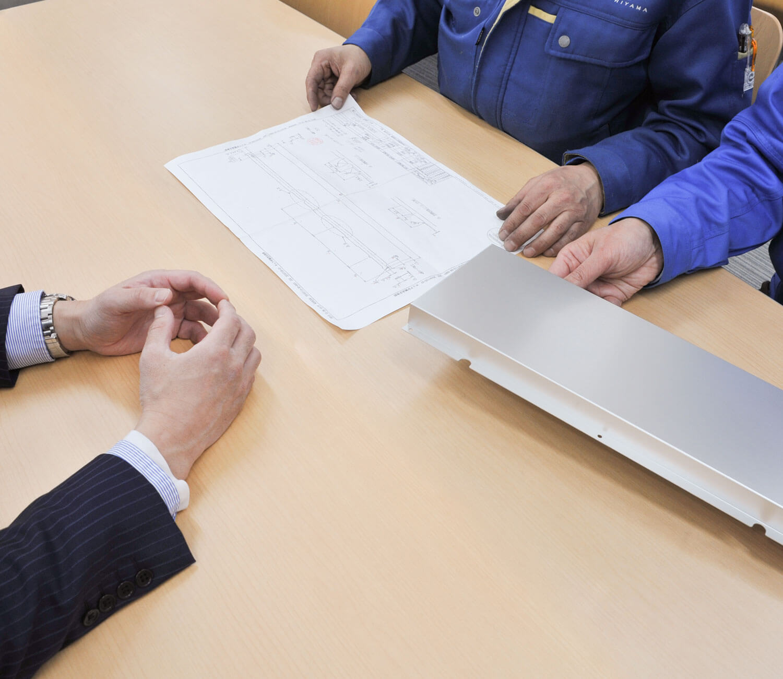 提案・事務所での打合せの写真